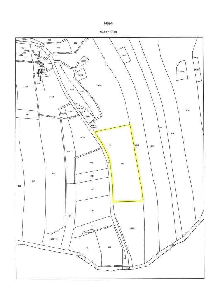dz. 190 Boboszów mapa ewidencyjna.jpeg