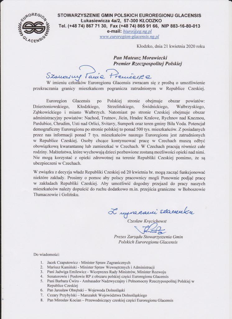 Pismo Euroregionu Glacensis do Premiera RP.jpeg