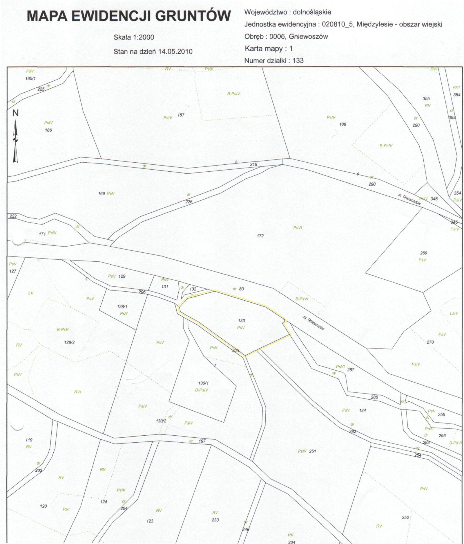 mapa Gniewoszów dz. 133.jpeg